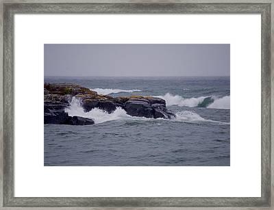 Lake Superiors Captivating Views Framed Print by Hella Buchheim