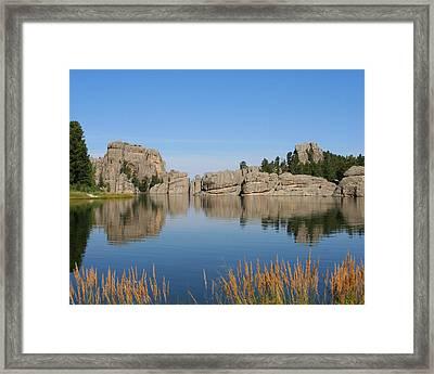 Lake Sylvan Framed Print by Brook Burling