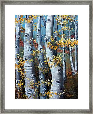 Lake Tahoe Aspens Framed Print