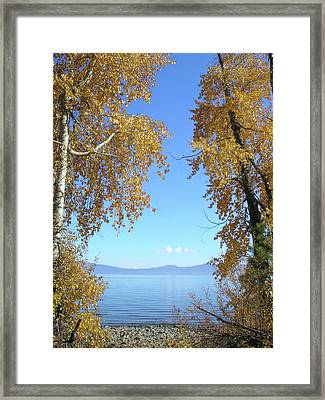 Lake Tahoe Autumn Framed Print by Connie Handscomb