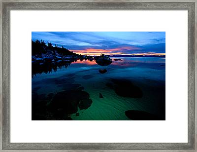 Lake Tahoe Clarity At Sundown Framed Print