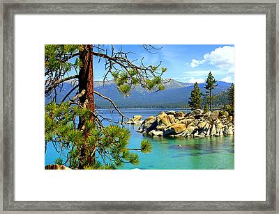 Lake Tahoe Colors Framed Print