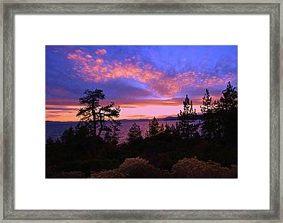 Lake Tahoe Crescendo Framed Print