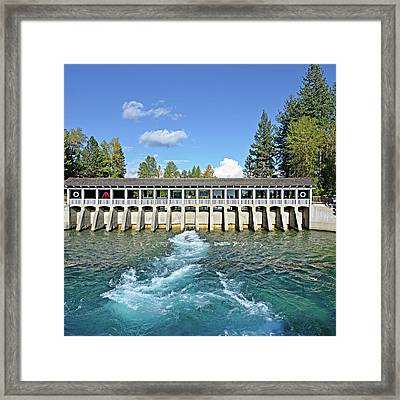Framed Print featuring the photograph Lake Tahoe Dam by David Lawson