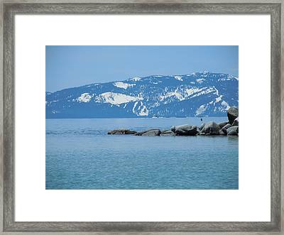 Framed Print featuring the photograph Lake Tahoe by Dan Whittemore