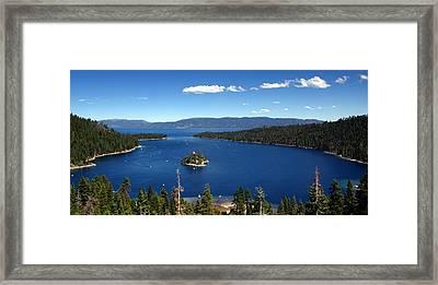 Lake Tahoe Emerald Bay Framed Print by Jeff Lowe