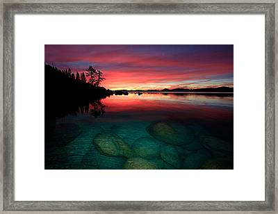 Lake Tahoe Jewels Framed Print