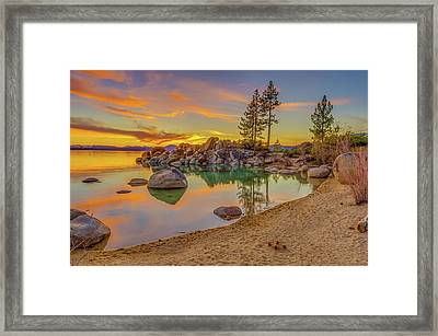 Lake Tahoe Majestic Sunset Framed Print