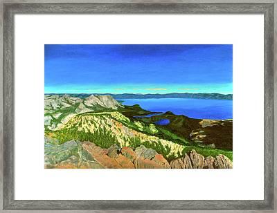 Lake Tahoe Panorama Framed Print