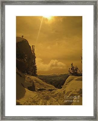 Lake Tahoe  Framed Print by Paula Deutz
