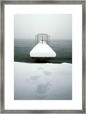 Lake Tahoe Pier Framed Print by Greg  West