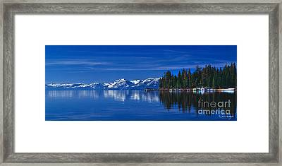 Lake Tahoe Reflections Framed Print by Vance Fox