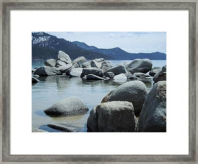 Framed Print featuring the photograph Lake Tahoe Rocks by Dan Whittemore