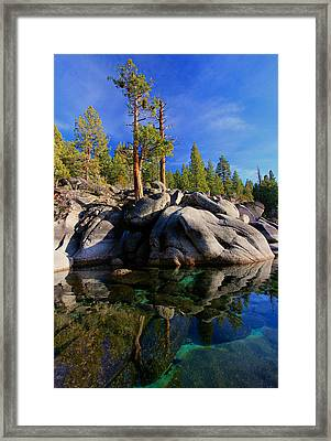 Lake Tahoe Rocks Framed Print