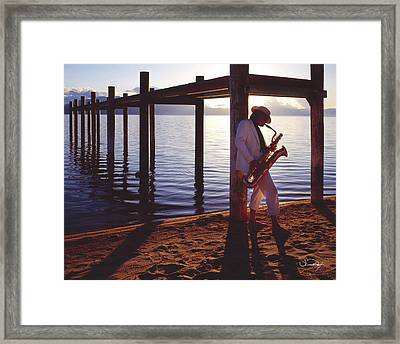 Lake Tahoe Sax Framed Print by Vance Fox