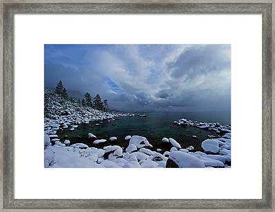 Lake Tahoe Snow Day Framed Print by Sean Sarsfield