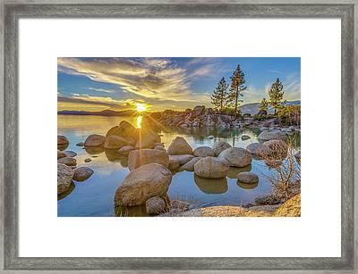 Lake Tahoe Spring Starburst Framed Print by Scott McGuire