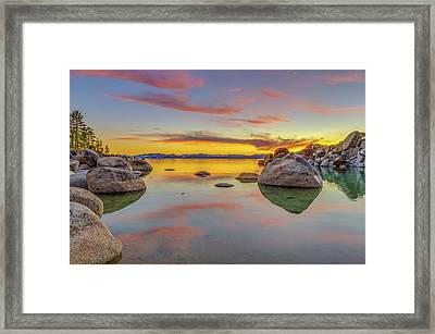 Lake Tahoe Spring Sunset Reflection Framed Print by Scott McGuire
