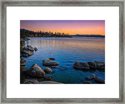 Lake Tahoe State Park Fall Sunset Framed Print