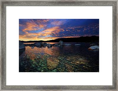 Lake Tahoe Sundown Framed Print