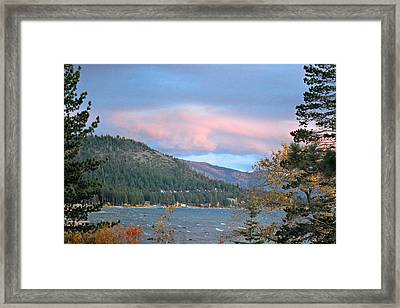 Lake Tahoe Sunset Framed Print by Linda Sramek