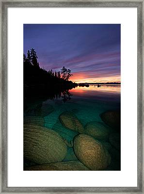 Lake Tahoe Sunset Portrait Framed Print