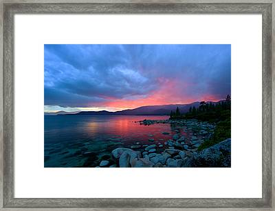 Lake Tahoe Sunset Framed Print by Sean Sarsfield