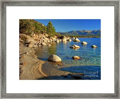 Lake Tahoe Tranquility Framed Print by Scott McGuire