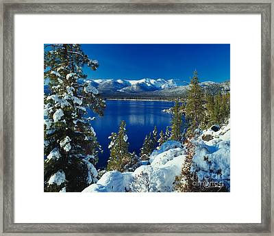 Lake Tahoe Winter Framed Print by Vance Fox
