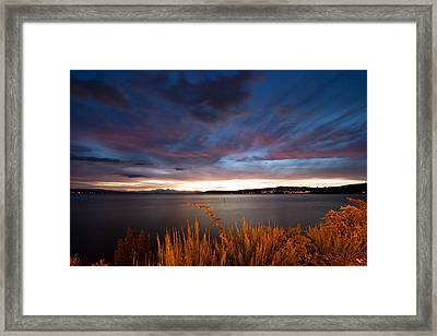 Lake Taupo Sunset Framed Print