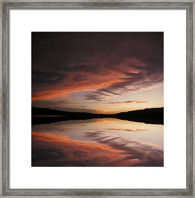Framed Print featuring the photograph Lake Thunderbird Sunset by Rick Friedle