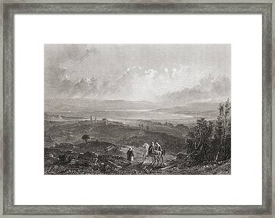 Lake Tiberius, Palestine. 19th Century Framed Print by Vintage Design Pics