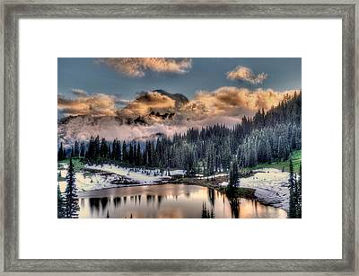 Lake Tipsoo, Mt Rainier Framed Print