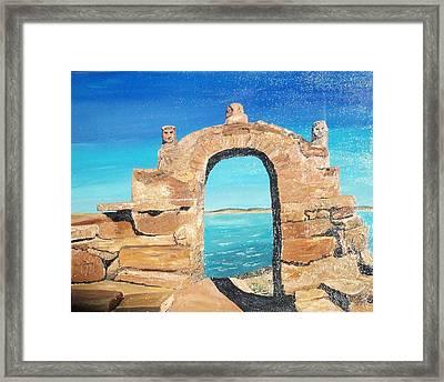 Lake Titicaca Peru Framed Print by Tracey Mitchell