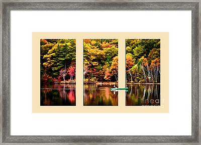 Lake Transition Framed Print by Garland Johnson