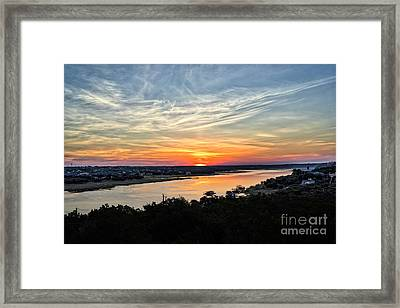 Lake Travis Sunrise Framed Print by Tod and Cynthia Grubbs