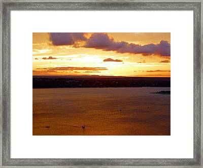 Lake Travis Sunset Framed Print