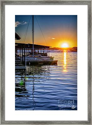 Framed Print featuring the photograph Lake Travis by Walt Foegelle