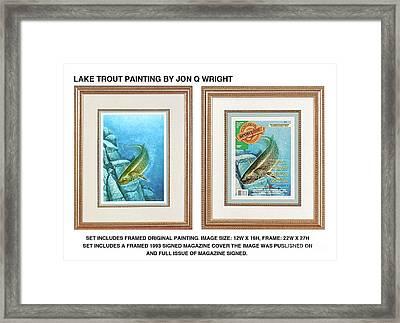 Lake Trout Original Framed Print by Jon Q Wright