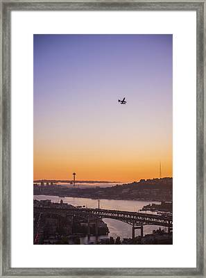 Lake Union Landing Framed Print by Pelo Blanco Photo