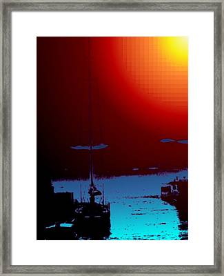 Lake Union Moorage Framed Print by Tim Allen