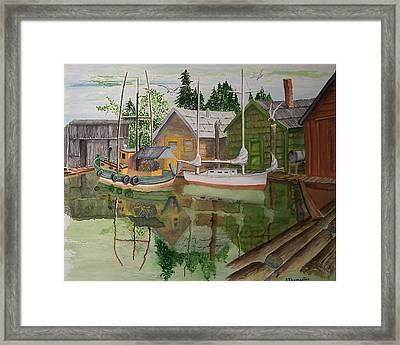 lake Union Seattle Framed Print by Robert Thomaston