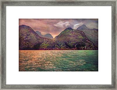 Lake Uri And Its Foehn Framed Print