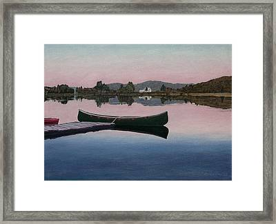 Lake View Framed Print by Allan OMarra