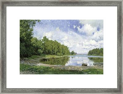 Lake View At Engelsberg, Vastmanland, 1893 Framed Print by Olof Per Ulrik Arborelius