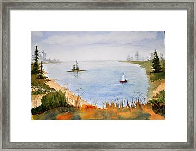 Lake View Framed Print by Brenda Douglas