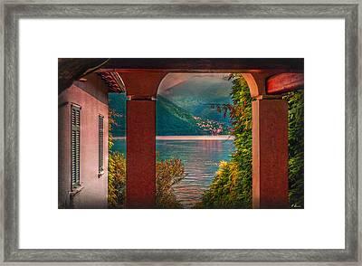 Lake View Framed Print