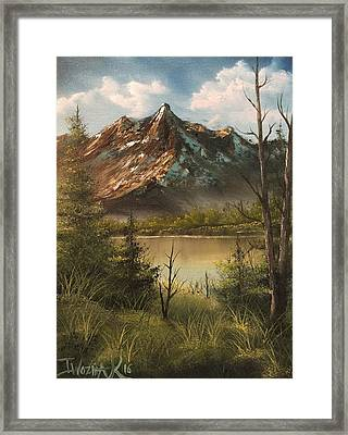 Lake View Mountain  Framed Print