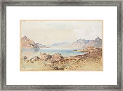 Lake Wakatipu 1866   By Nicholas Chevalier Framed Print