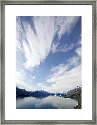 Lake Wakatipu Sky Framed Print by Barry Culling